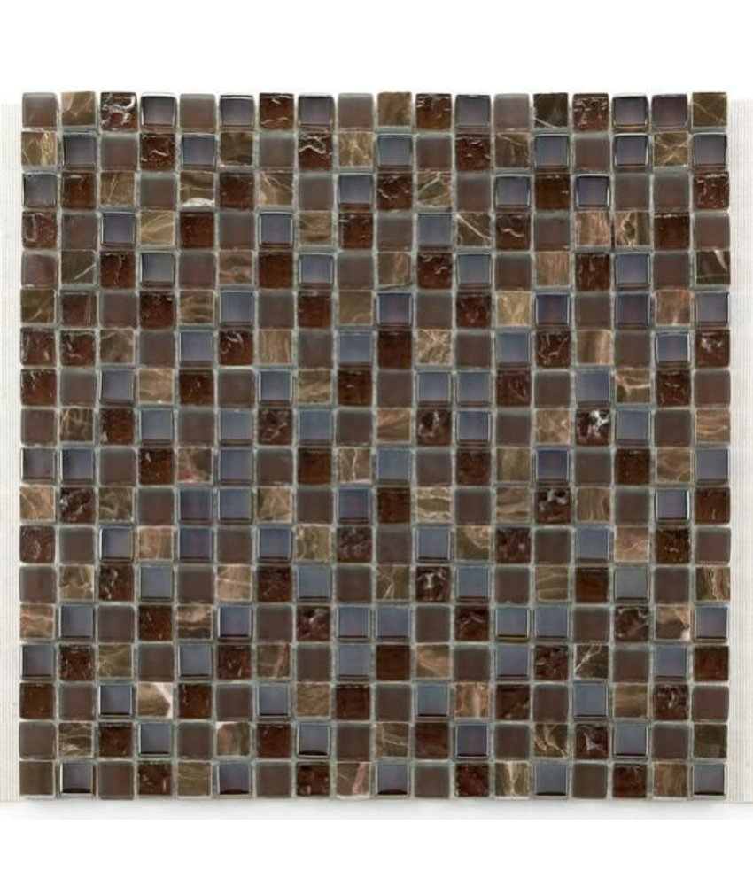 Materialmix-Mosaikfliesen GL-2497 Tuscany brown