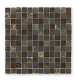 BÄRWOLF Materialmix-Mosaikfliesen GL-2498 Tuscany brown