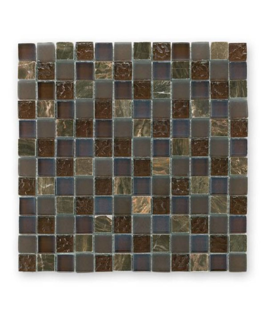 Materialmix-Mosaikfliesen GL-2498 Tuscany brown