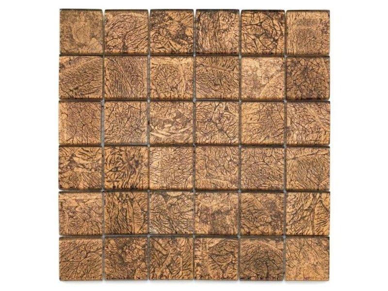 BÄRWOLF Glas-Mosaikfliesen GL-2531 Byzantine brown