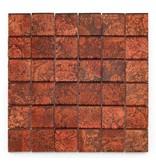 BÄRWOLF Glas-Mosaikfliesen GL-2532 Byzantine red