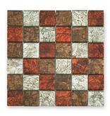BÄRWOLF Materialmix-Mosaikfliesen GL-2535 Byzantine colour mix