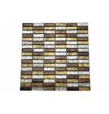 Glasmosaik-Fliesen braun, silber, gold GM1533