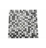 EDELSTAHL Mosaikfliesen silber, grau, anthrazit MOT28