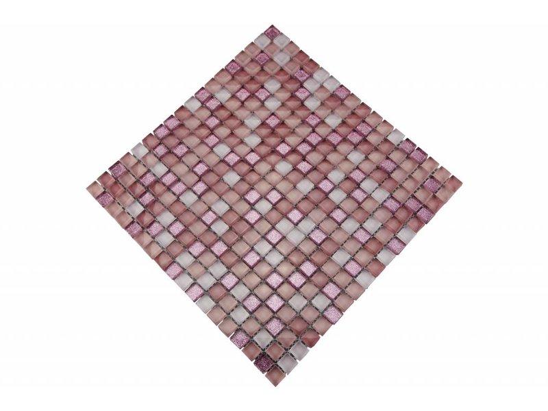 Glasmosaik Fliesen - rosa / pink - MOT23
