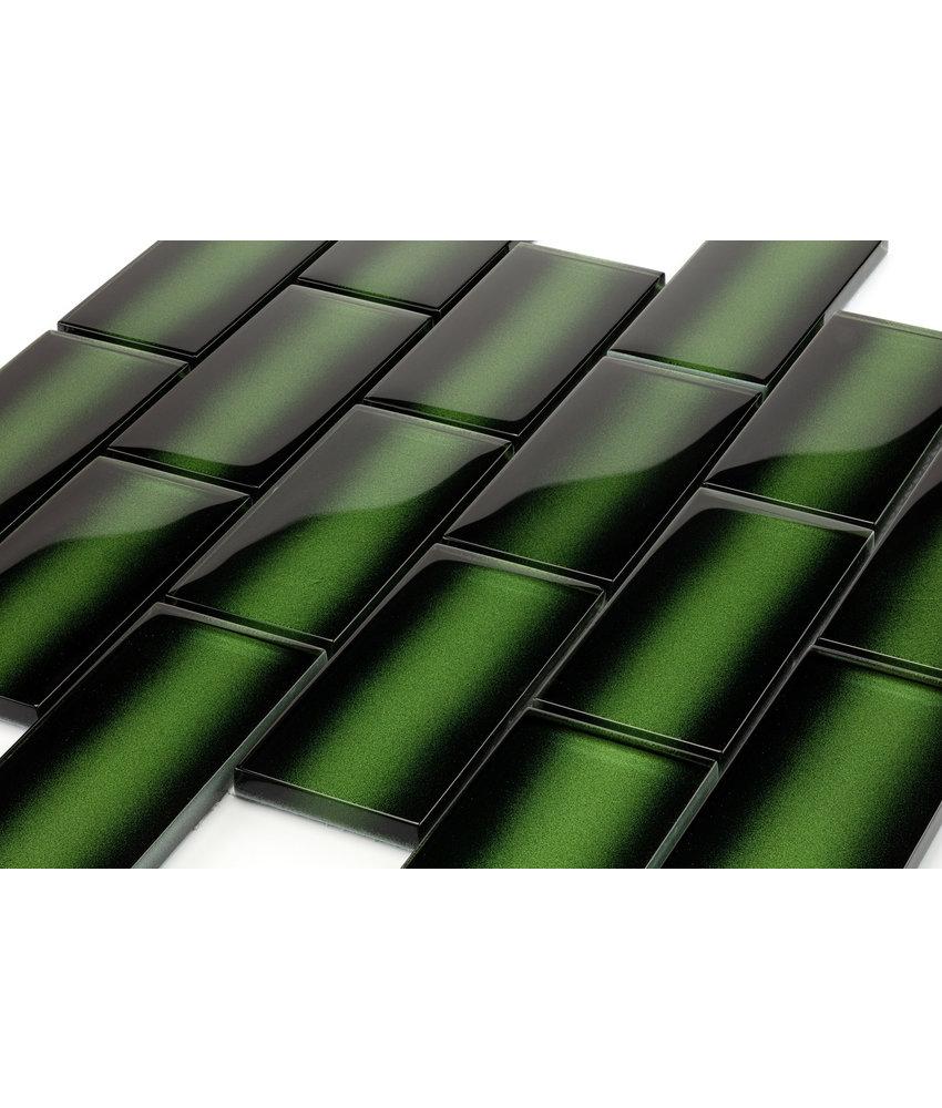 Glass Bamboo botanical green  - 29,8x29,8 x0,8 cm