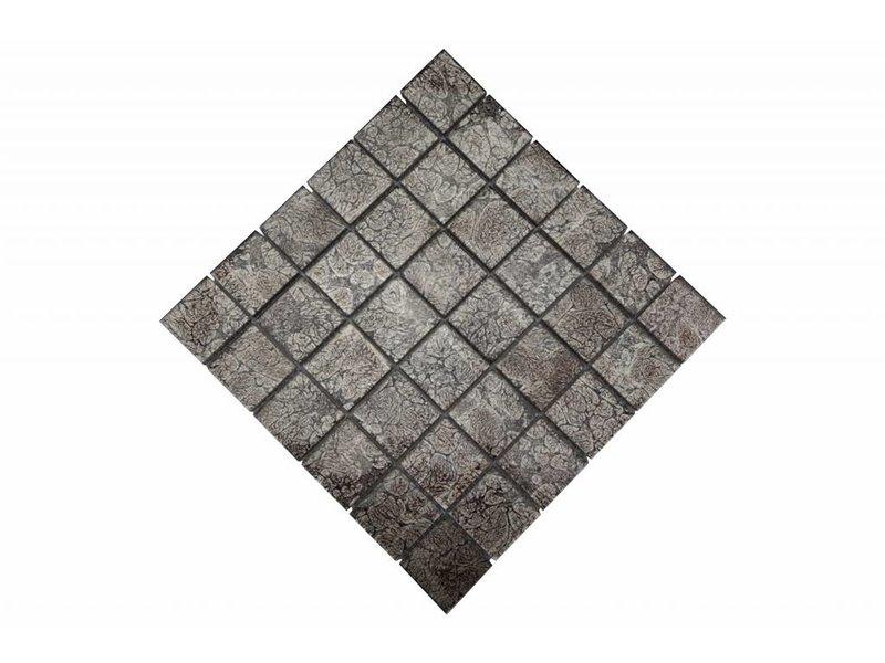 Glasmosaik-Fliesen silber GM4831