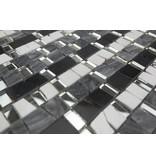 Bunte Mosaikfliesen weiß, grau mix - MM5