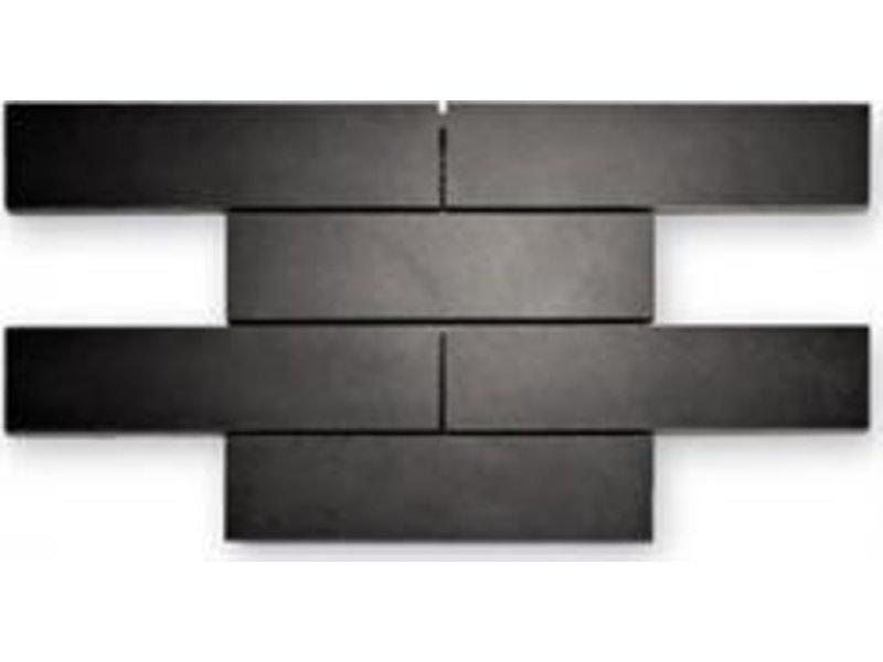 BÄRWOLF Naturstein Mosaikfliesen Loft BM-11001 black polished