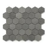 BÄRWOLF Naturstein Mosaikfliesen Basalt BM-15001 ash grey