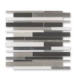 BÄRWOLF Materialmix-Mosaikfliese New York GL-14010 grey mix