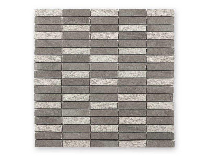 BÄRWOLF Naturstein Mosaikfliesen Djenné CM-15008 grey
