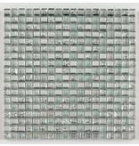BÄRWOLF Glasmosaik-Fliesen Translucent GL-09001 silver ice