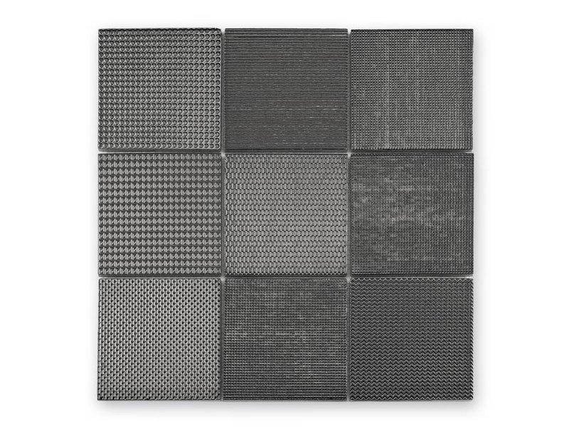 BÄRWOLF Keramik Mosaikfliese Taris KEG-14040 anthrazit