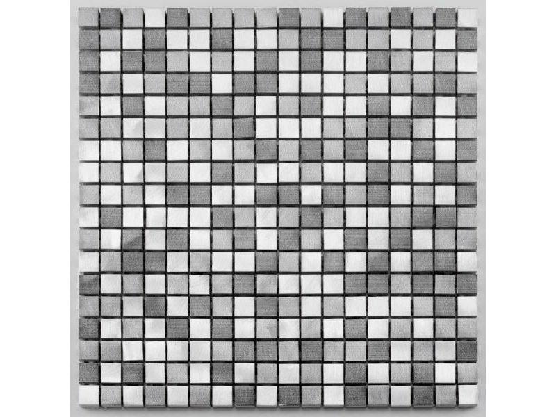 BÄRWOLF Aluminium-Mosaikfliese Pixel MB-1305 graphit mix