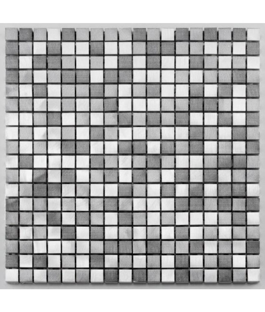 Aluminium-Mosaikfliese Pixel MB-1305 graphit mix