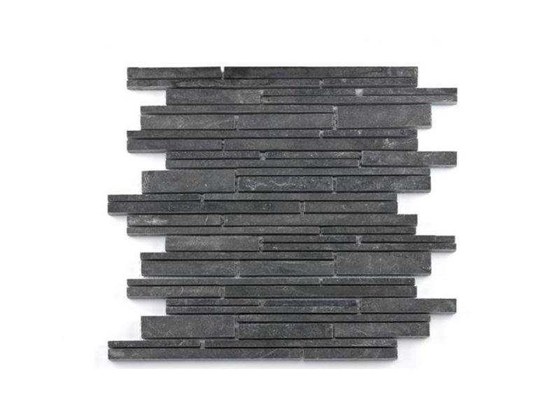 BÄRWOLF Naturstein Mosaikfliesen Nature CM-14009 black