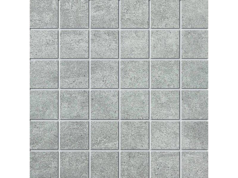 NORD CERAM Mosaikfliese Enduro END7110 grau 5x5 cm - auf Netz 30x30 cm