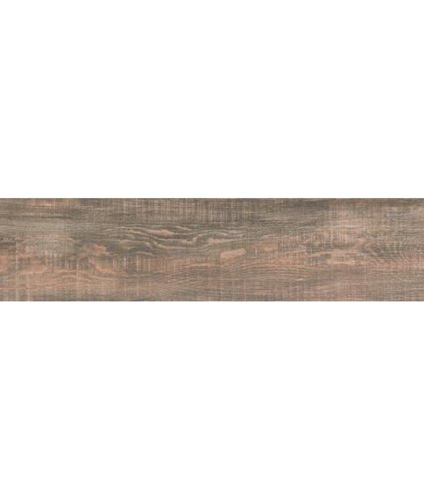 Bodenfliese Gate GTE568 braun, rektifziert / R10 - 22x90 cm