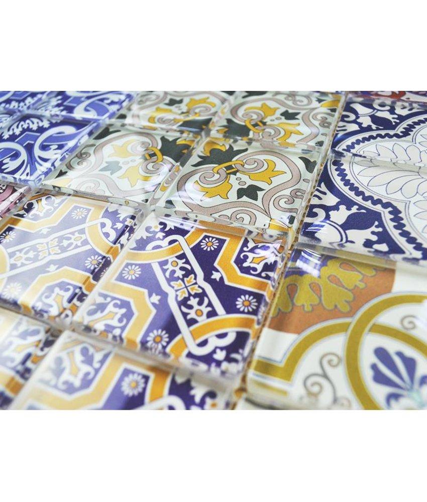 GLASMOSAIK FLIESEN - Patchwork multicolor - bunt