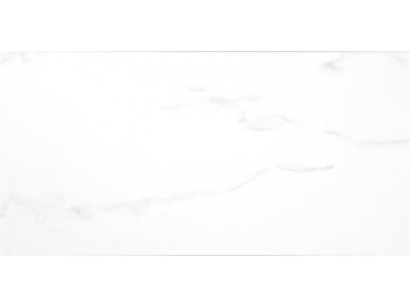 McTile Wandfliesen Castello 3060240K Weiß marmoriert & rektifiziert - 30x60 cm