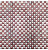 GLASMOSAIK FLIESEN - Hollywood - weiß / rot
