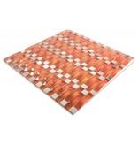 MOSAIKFLIESEN - Palermo - Glas / Edelstahl - orange / silber