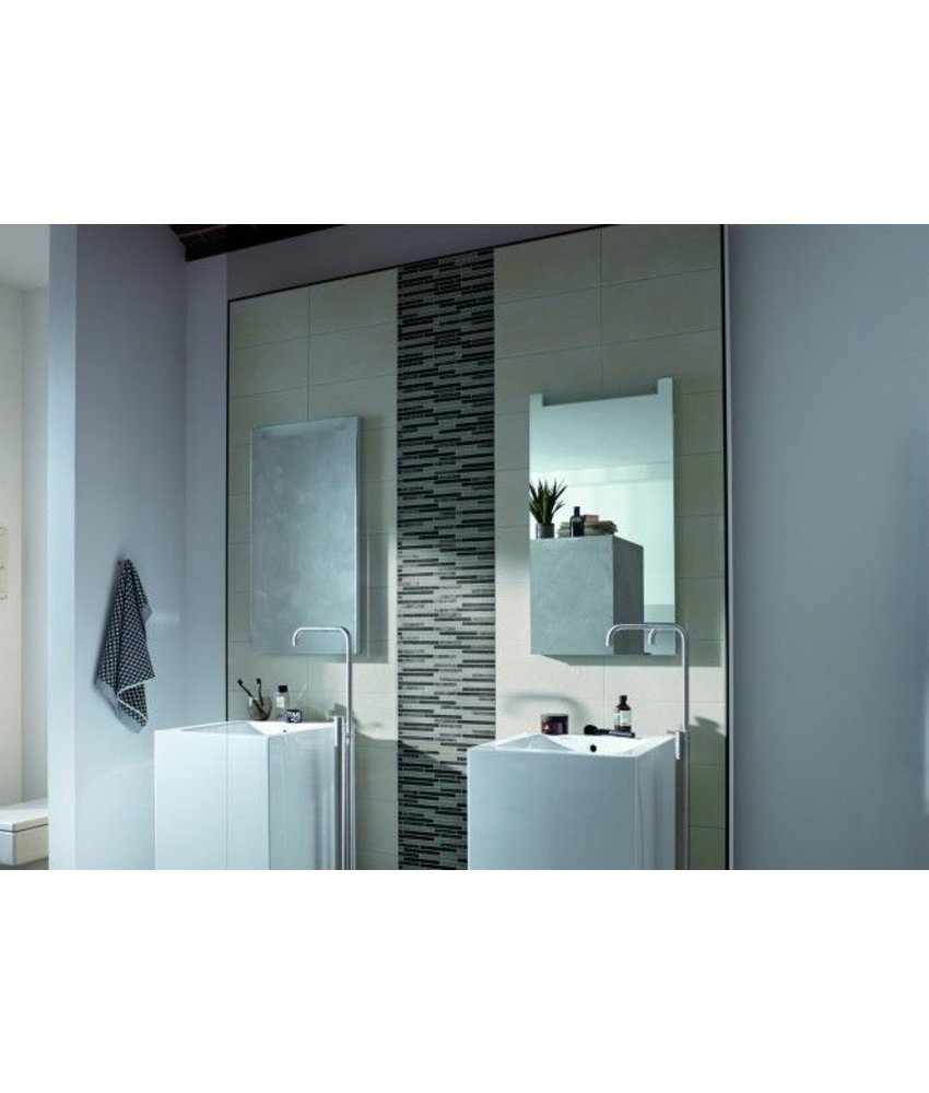 Mosaikbordüre Teramo 0540416S Beige-Mocca, 5x40 cm