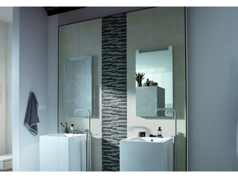 McTile Mosaikbordüre Teramo 0540415S Grau-Anthrazit 5x40 cm