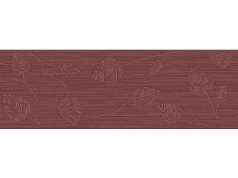 McTile Wandfliesen Dekor Varallo 2060579S Blätter Cherry - 20x60 cm