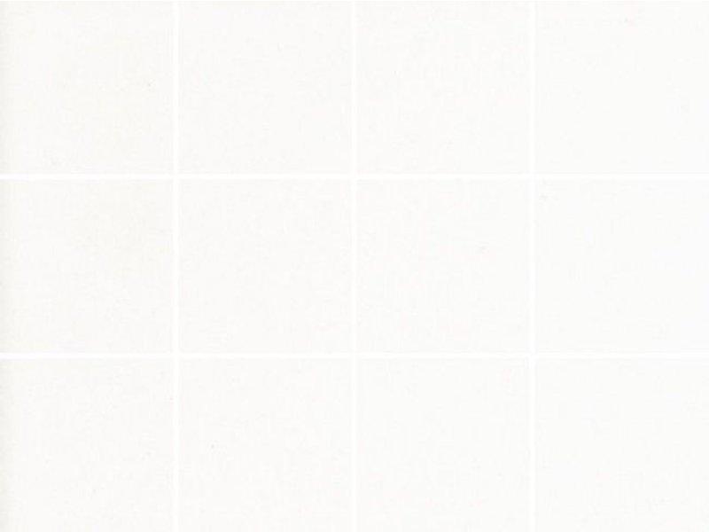 McTile Steinzeug-Mosaik Caldero 1010271D Weiß Matt, 10x10, Glasiert, R10/B, Abr. IV - 30x40 cm