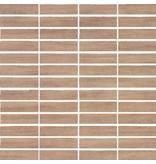 McTile Balvano Feinsteinzeug Mosaik 0207672L Mocca (2x7) / R9, Abr.4 - 30x30cm