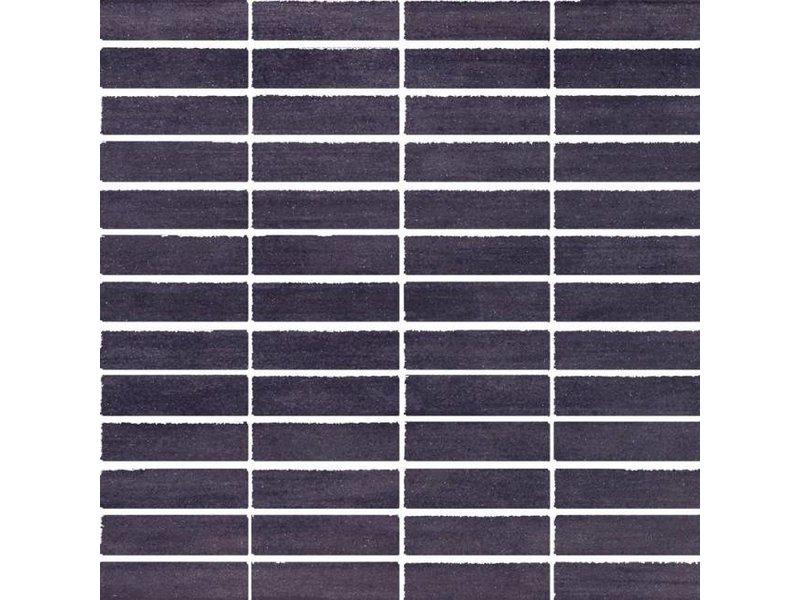 McTile Balvano Feinsteinzeug Mosaik 0207673L Schwarz (2x7) / R9, Abr.4 - 30x30cm