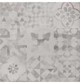 McTile Venosa Feinsteinzeug glasiert Bodenfliesen 6060222G Dekor Mix, rektifiziert / R10, Abr.4 - 60x60cm