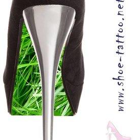 the shoe-tattoo grass GREEN