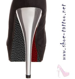 the shoe-tattoo Leather BLACK-RED