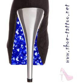 the shoe-tattoo Glitter BLAU