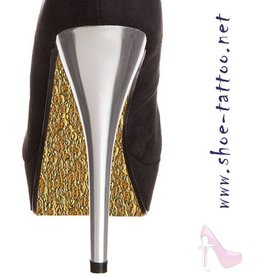 the shoe-tattoo Metall GOLD