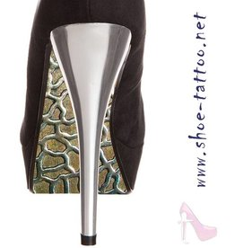 the shoe-tattoo Metall  GOLD-SILBER