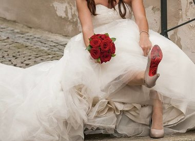 heiraten mit shoe-tattoo
