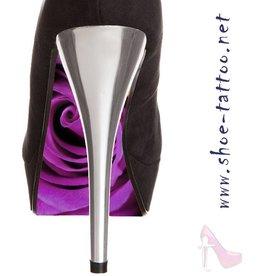 the shoe-tattoo rose LILA