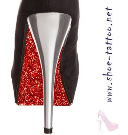 the shoe-tattoo Glitter RED