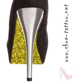 the shoe-tattoo Glitter GOLD