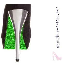 the shoe-tattoo Glitter GREEN