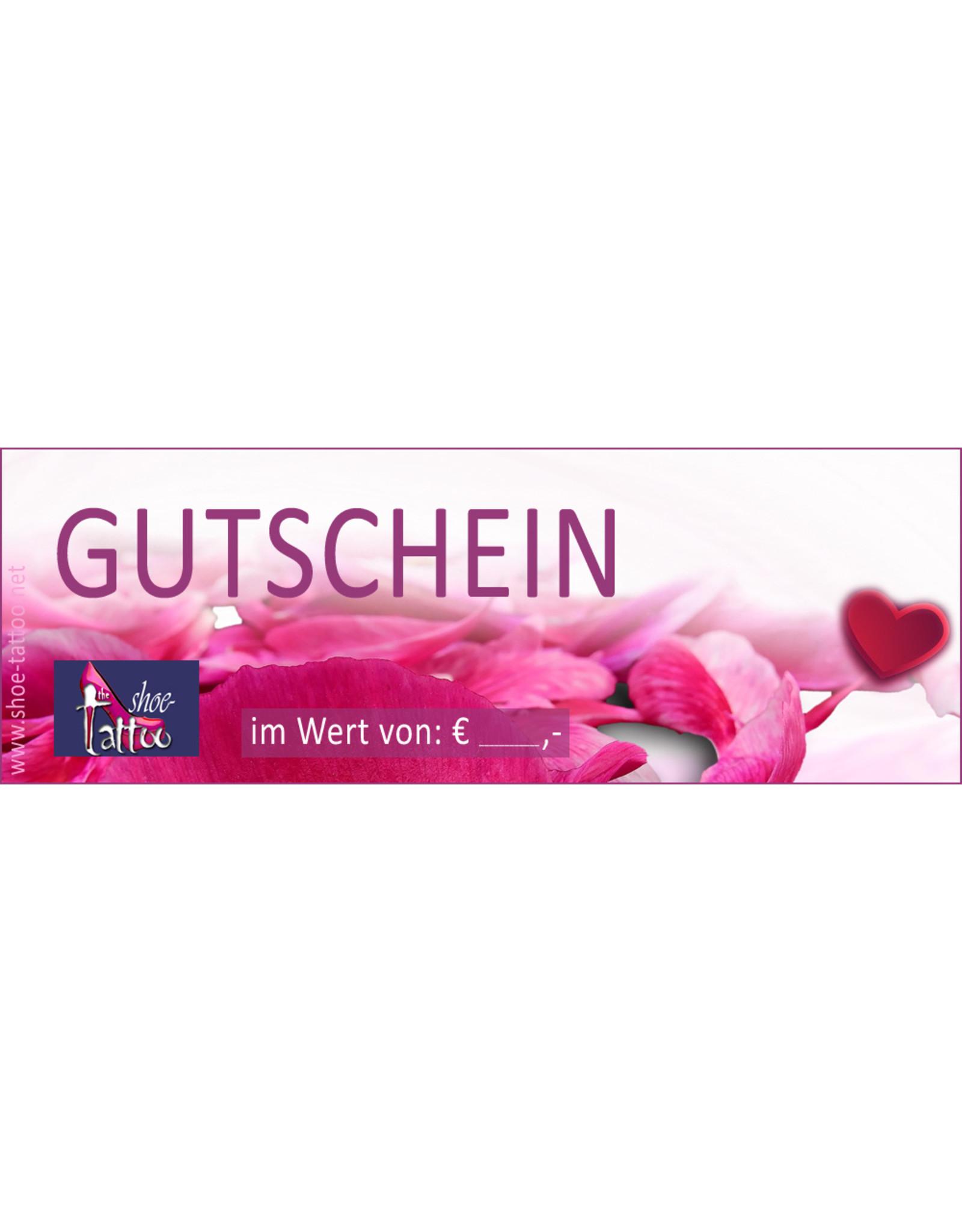the shoe-tattoo Geschenkgutschein