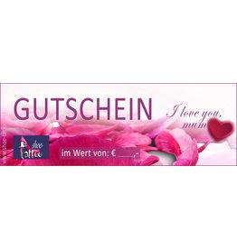 """the shoe-tattoo Gutschein """"love"""""""