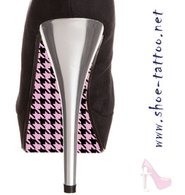 the shoe-tattoo PEPITA black-pink