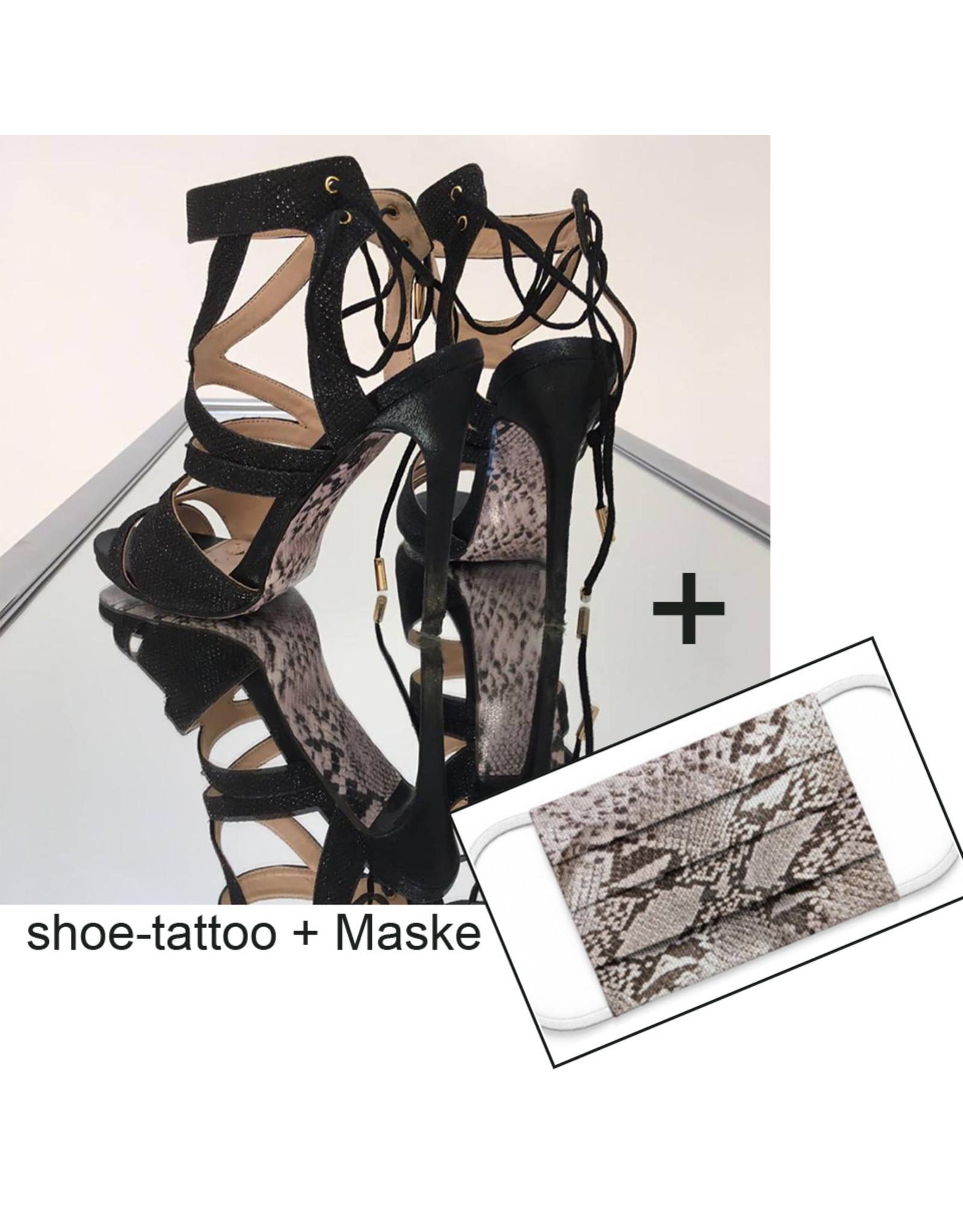 """the shoe-tattoo the shoe-tattoo """"SNAKE"""" + Mask"""