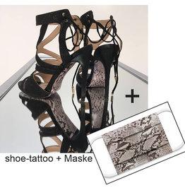 the shoe-tattoo Snake shoe-tattoo + Mundschutz