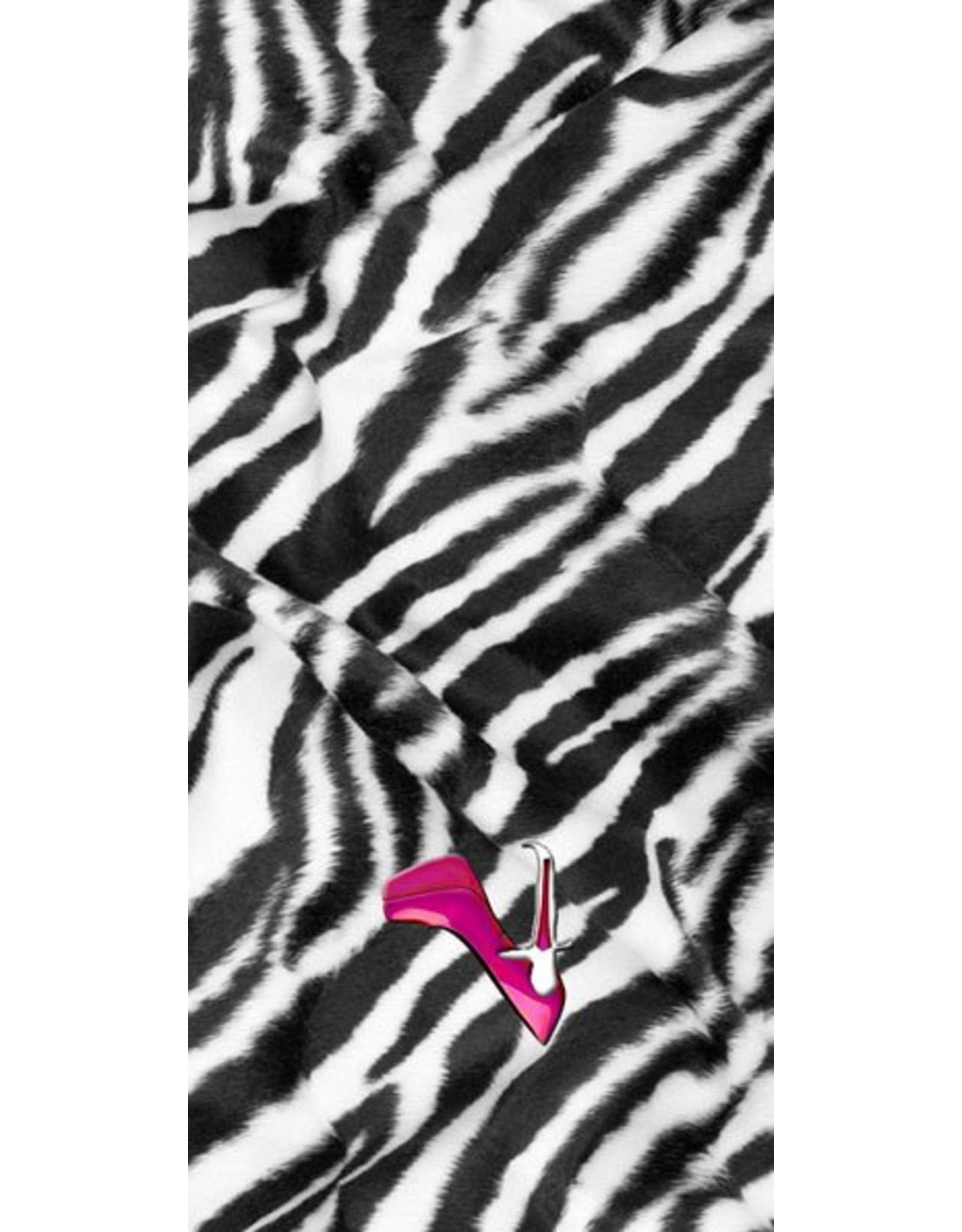 the shoe-tattoo zebra with logo